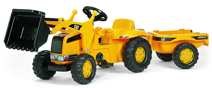 Toy Construction Equipment : Kettler cat kid tractor with trailer heavy equipment toys